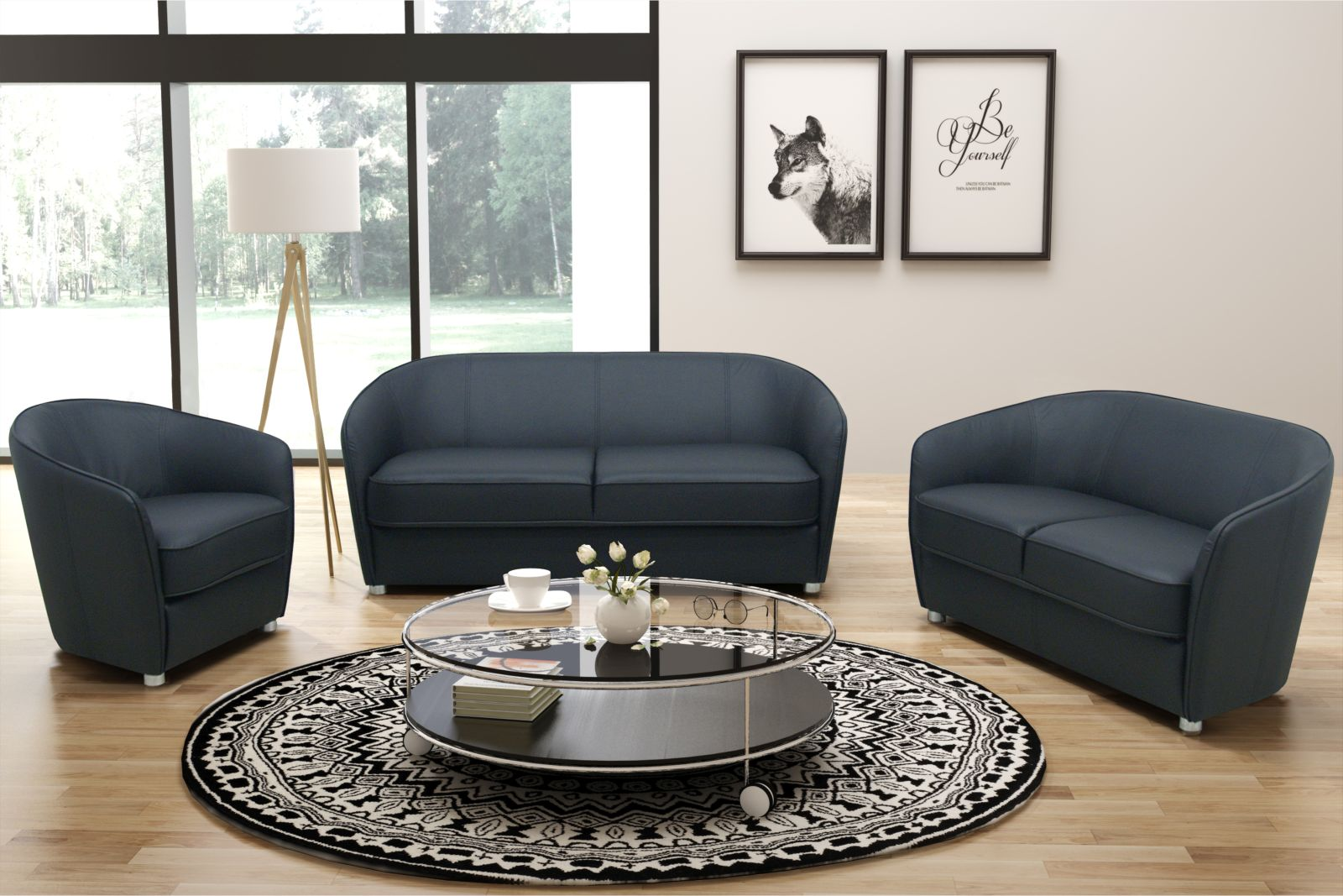 3 teilige moderne couchgarnitur 2 sitzer 3 sitzer sofa. Black Bedroom Furniture Sets. Home Design Ideas