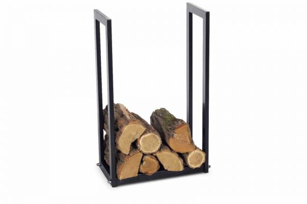 Brennholzregal 3 Größen Stahl schwarz Kaminholzständer Kaminholzregal N-BR-111
