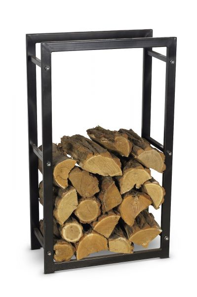 Brennholzregal 4 Größen Stahl schwarz Kaminholzständer Kaminholzregal N-BR-110