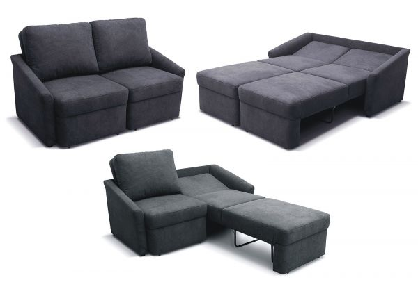 Relaxsofa Sofa inkl. 2 Bettfunktionen Schlafsofa Federkern Boxspring-Sofa Farb- Bezugswahl DO-Rely