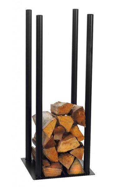Kaminholzregal 2 Größen Stahl schwarz Kaminholzständer Brennholzregal N-BR-120
